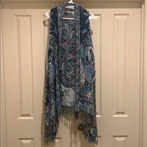 Boston proper Kimono/vest NWT